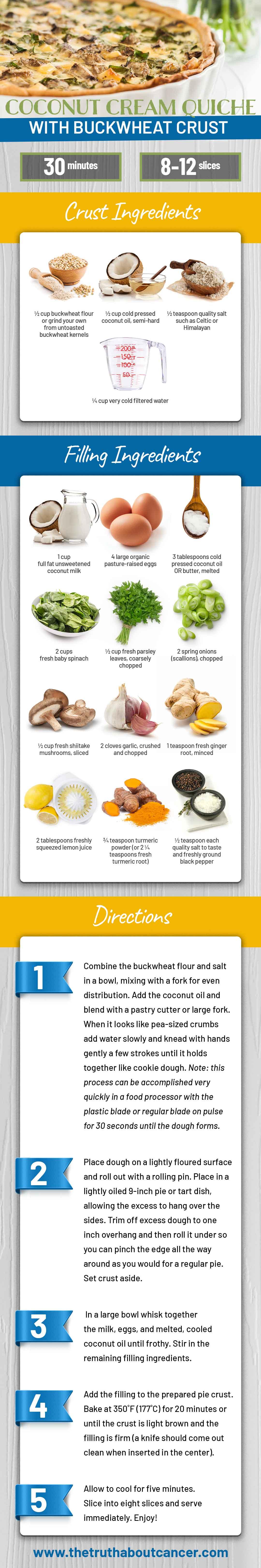 Coconut Cream Vegetarian Quiche Recipe