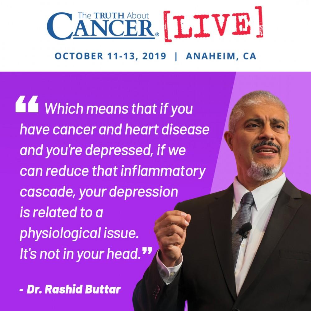 Dr. Rashid Buttar Inflammation & Depression Quote
