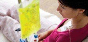 woman receiving chemo